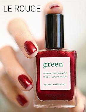 Manucurist Vernis Green Red Hibiscus