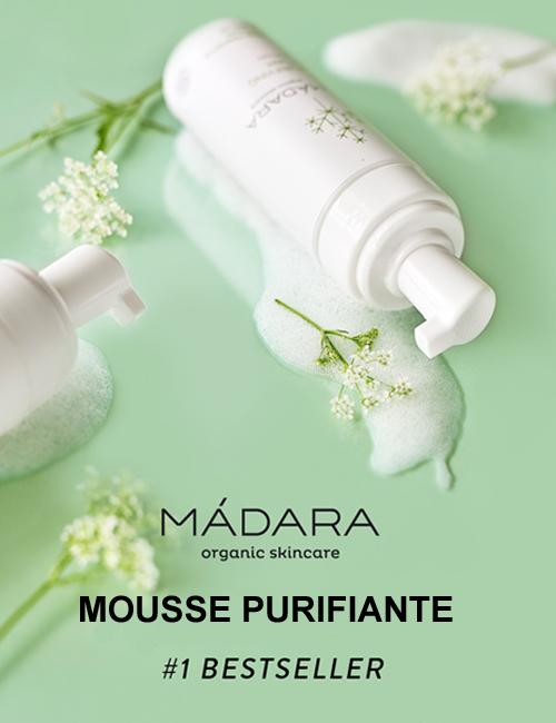 Madara cosmétique bio soin visage mousse nettoyante purifiante Detox