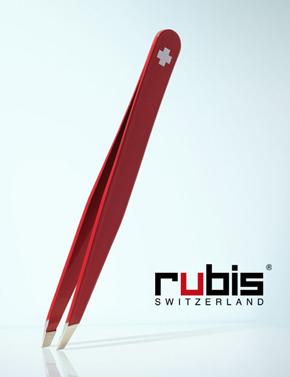 Rubis Switzerland Pince à Epiler Haute Précision croix suisse rouge