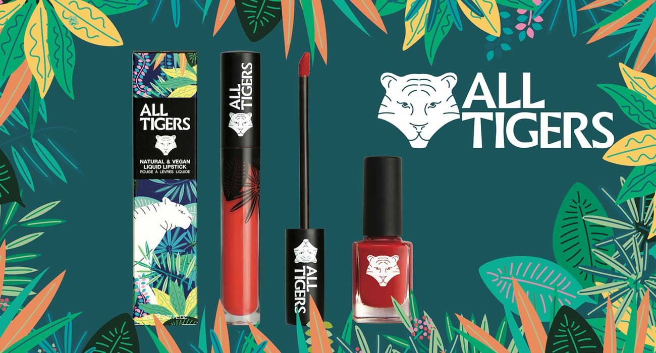 ALL TIGERS Lippenstift lipstick Naturkosmetik Nagellack green Vegan clean beauty l'Officina