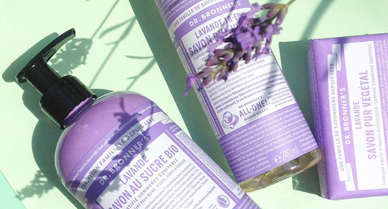 Dr. Bronner's organic soap lavender l'Officina Paris