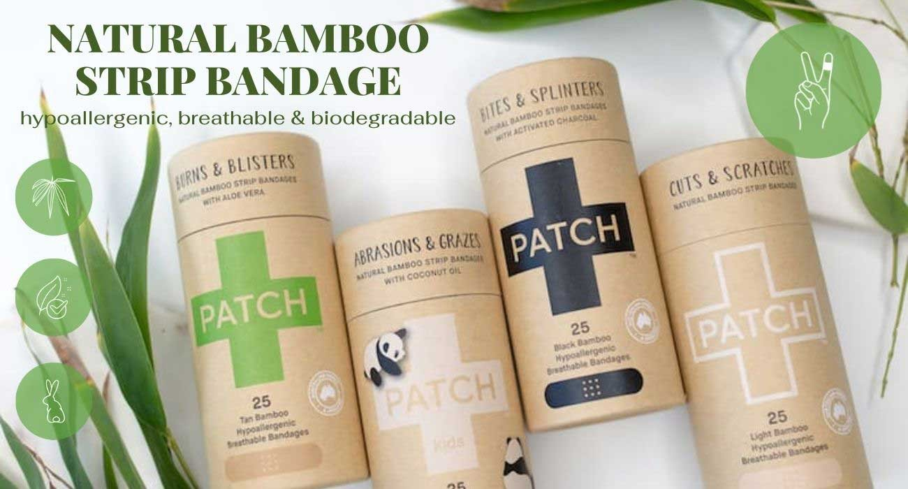 Natural bamboo Bandages Patch Strips Nutricare l'Officina Paris biodegradable